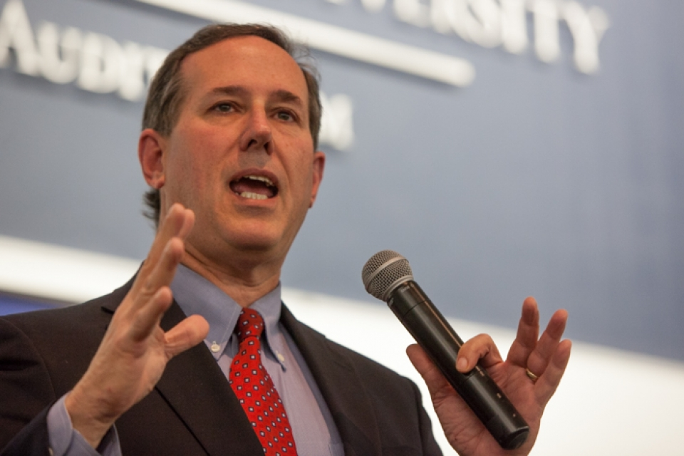 "<span style=""font-weight:bold;"">Senator Rick Santorum <br>Confirmed to Speak at <br>The National High School Leadership Conference<span>"