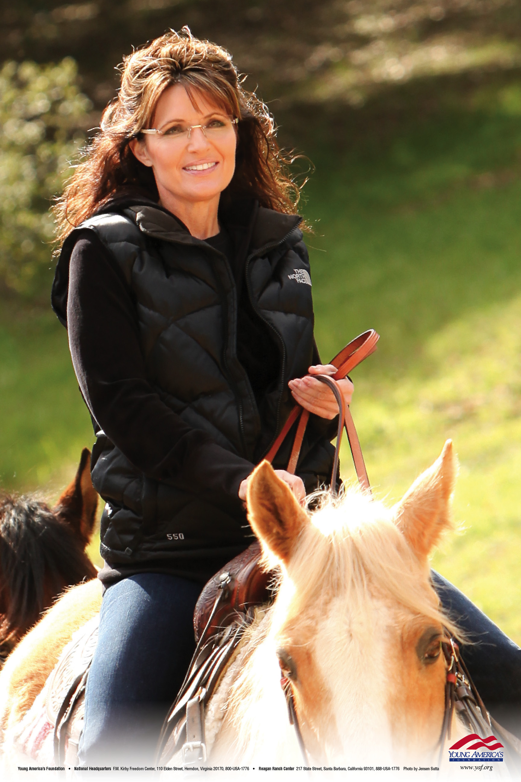 Sarah palin on horse young americas foundation posters altavistaventures Images