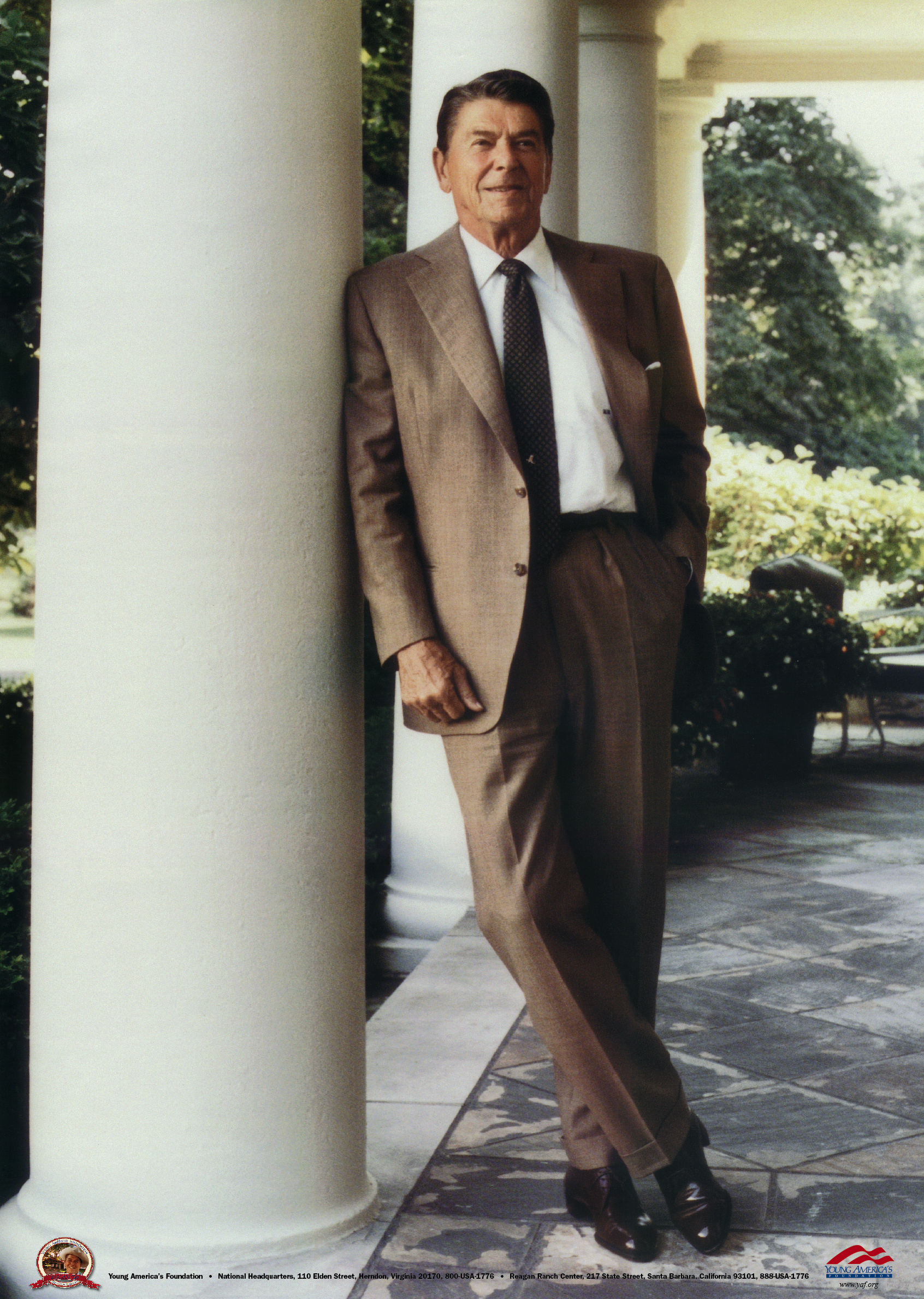 Reagan Brown Suit at White House Poster - Young America's Foundation