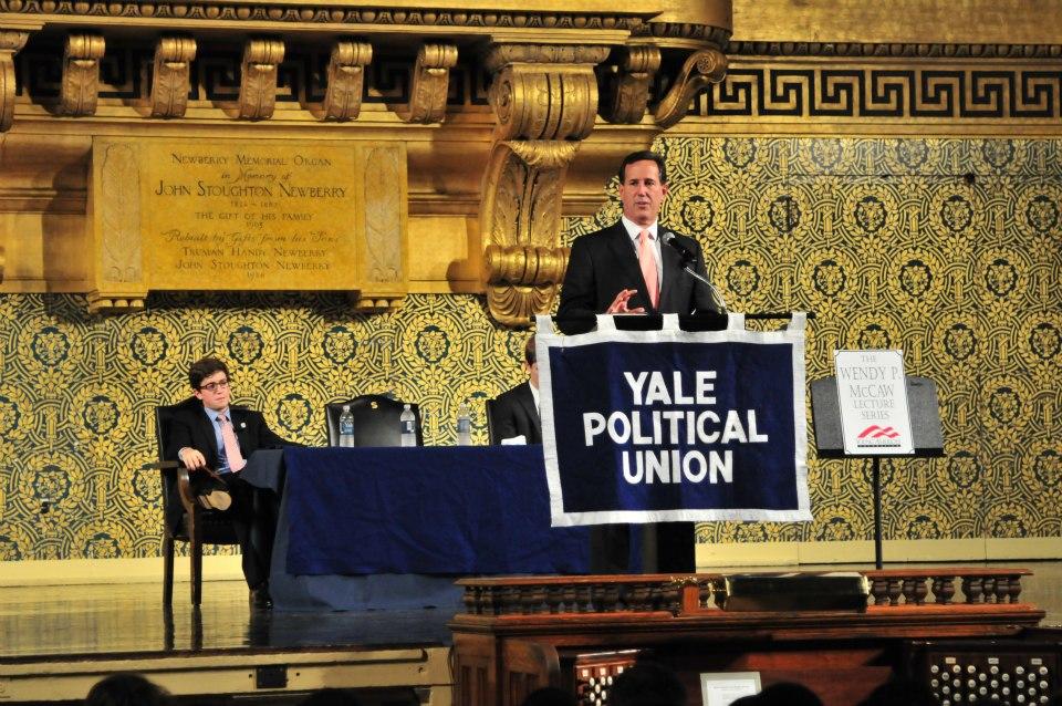 RIck Santorum at Yale