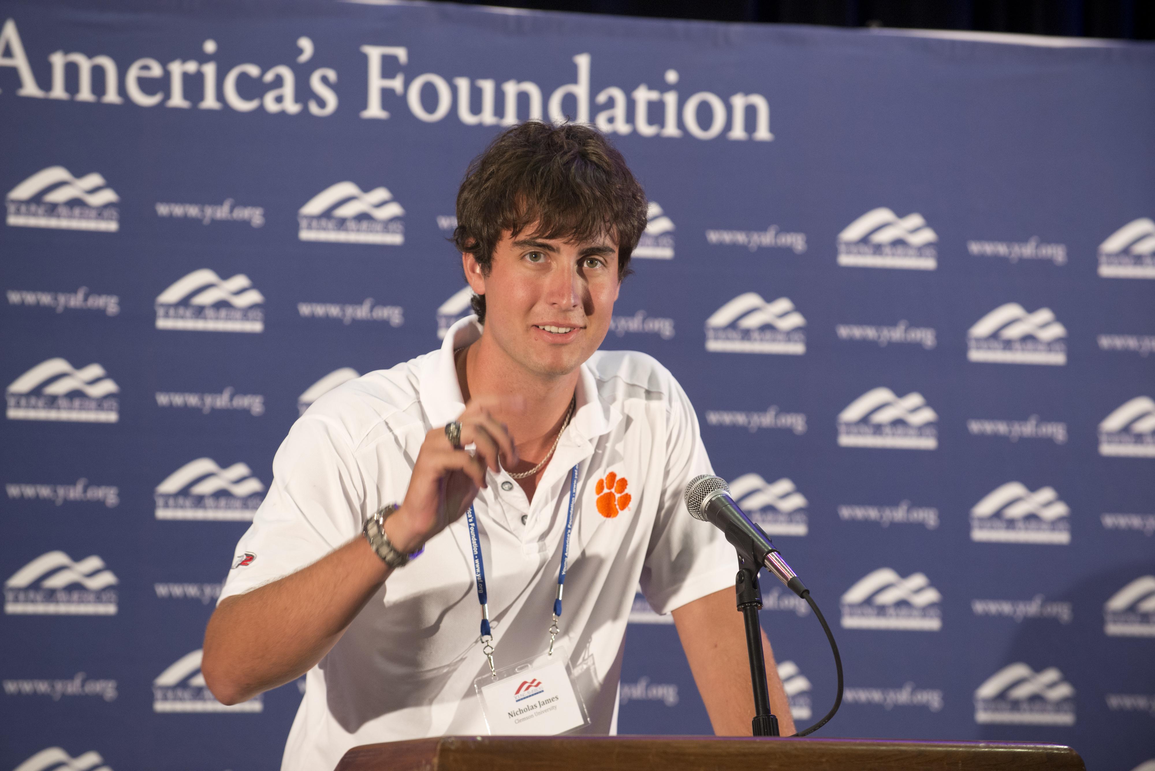 YAF Leader Nick James