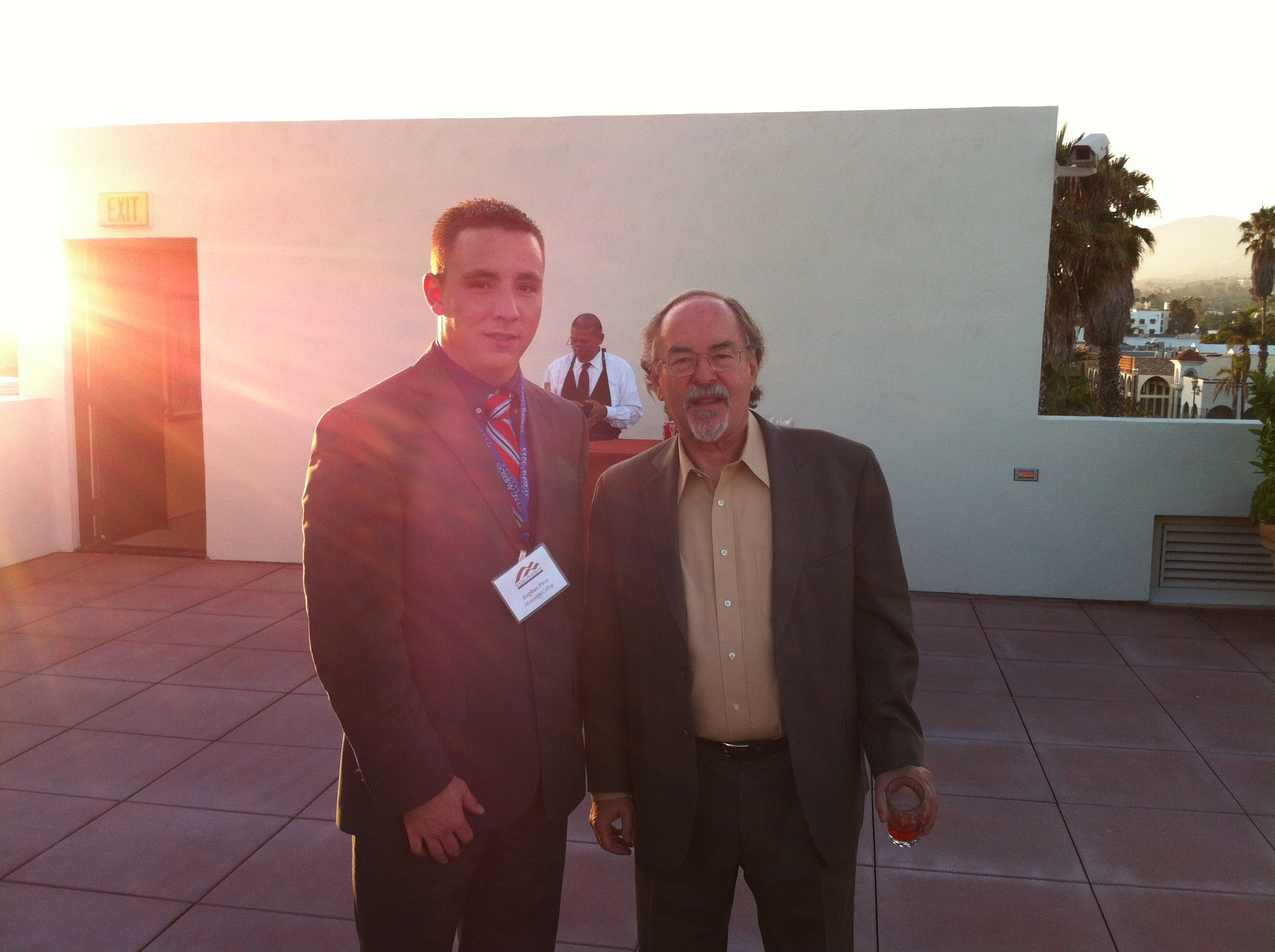 Stephen Pitts meets with David Horowitz