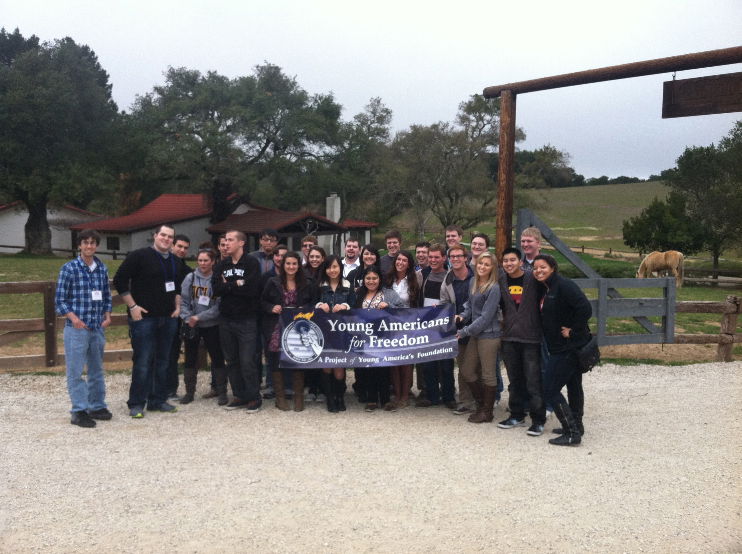 YAFers at the Reagan Ranch