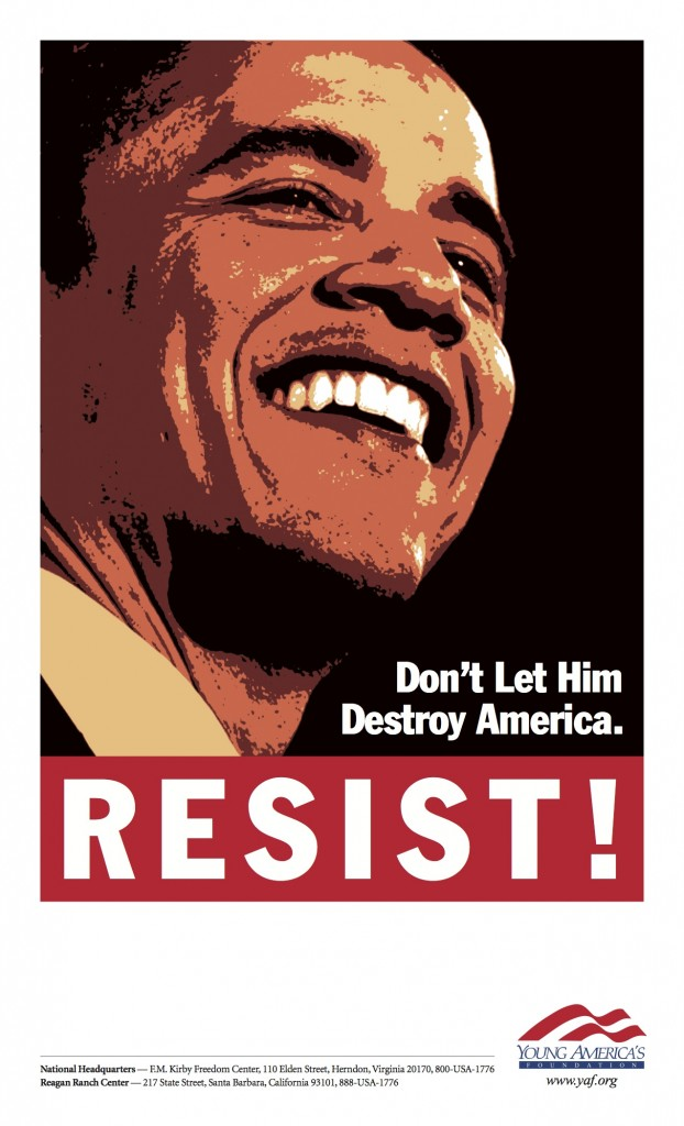 "Distribute ""Resist Obama"" Fliers"