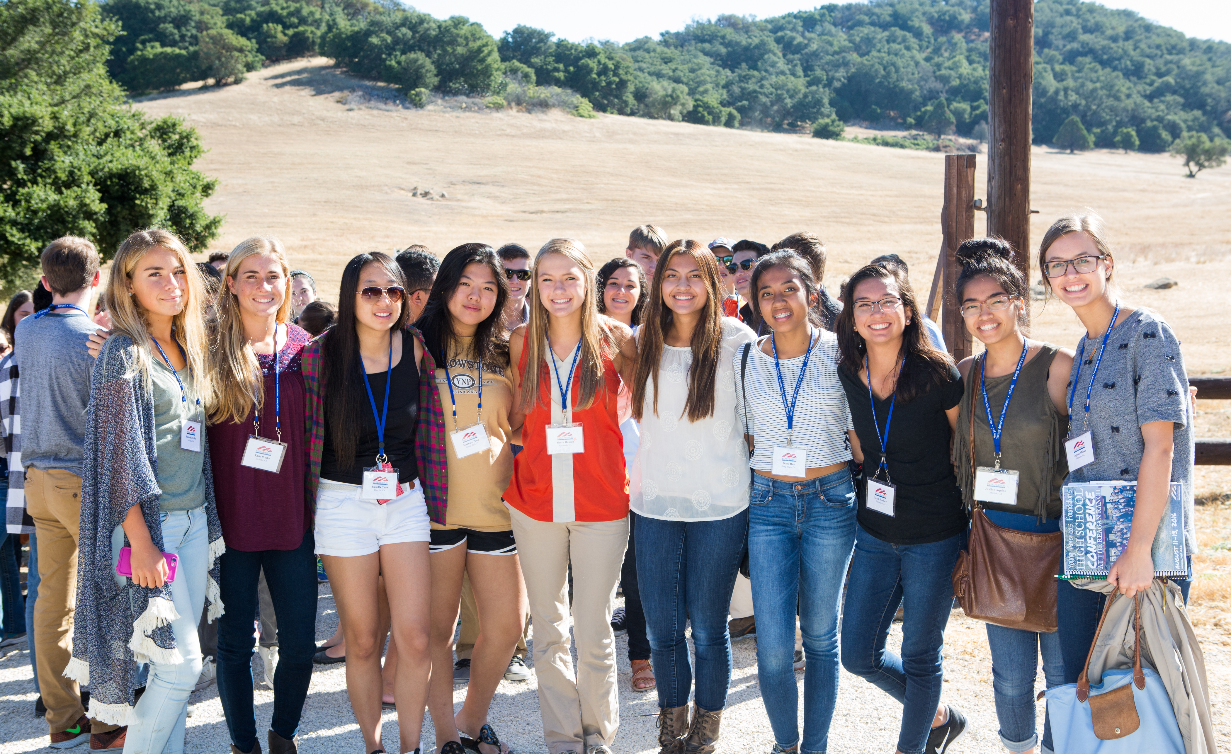 <strong>High School Students <br>Tour President Reagan's Ranch</strong>
