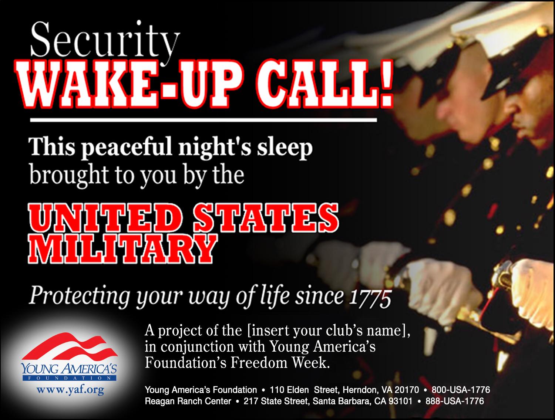 Freedom Week - security_wakeup_call