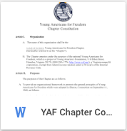 YAF Chapter Constitution