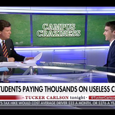 'These Are All So Dumb': Tucker Carlson Discusses 'Comedy & Tragedy' With YAF Spokesman Spencer Brown