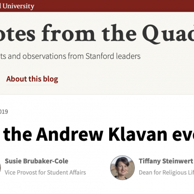 'We Are Deeply Troubled': Stanford Admins Condemn Klavan YAF Lecture In Pathetic Letter
