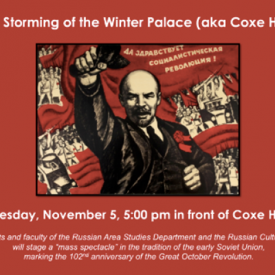 """Academic Department at Hobart and William Smith Colleges Reenacts Lenin-Era Socialist """"Storming of Winter Palace"""""""