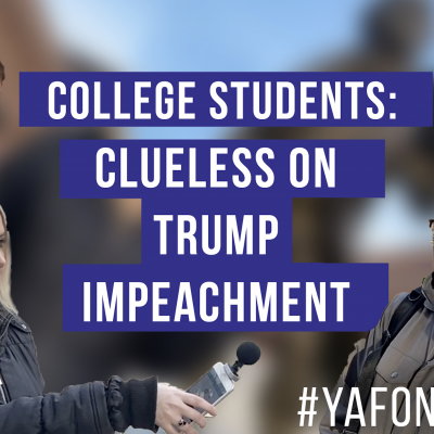 Student on the Street: College Students Support Trump's Impeachment, But Don't Know Why