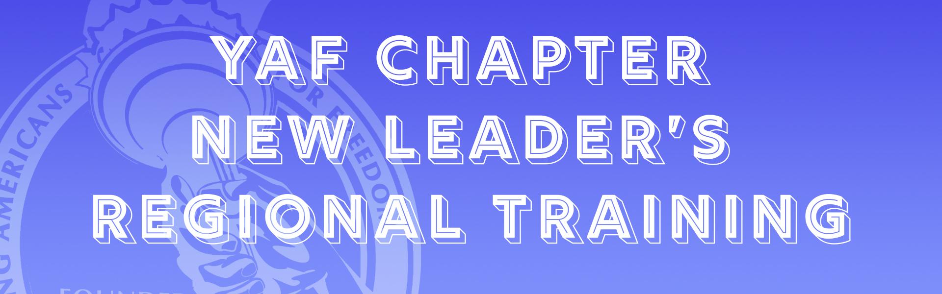 YAF Virtual Training (New Leader's Training)