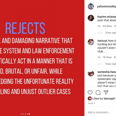DOXXING? College Moves to Release Personal Info of YAF Chapter Leaders After Outrage Over Pro-Police Instagram Post