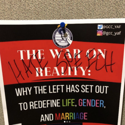 Vandals Deface YAF Chapter's Matt Walsh Event Posters at GCC