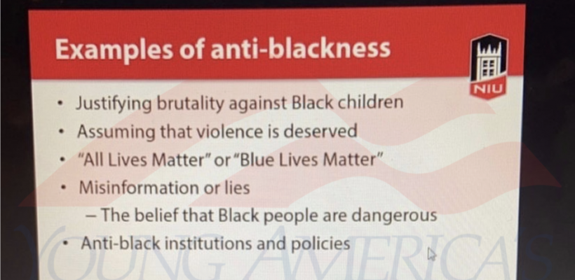 NIU Mandatory Diversity Training: Saying 'Blue Lives Matter' is 'Anti-Blackness'