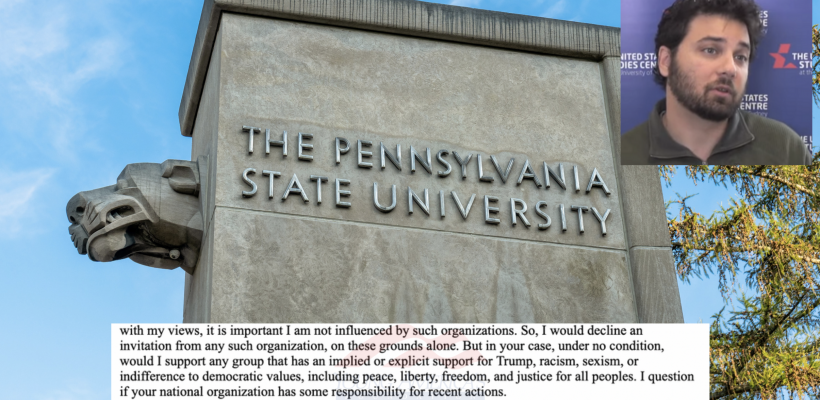 Penn State Prof: YAF Bears 'Responsibility' For Capitol Riot, 'Under No Condition' Would I Support YAF Chapter