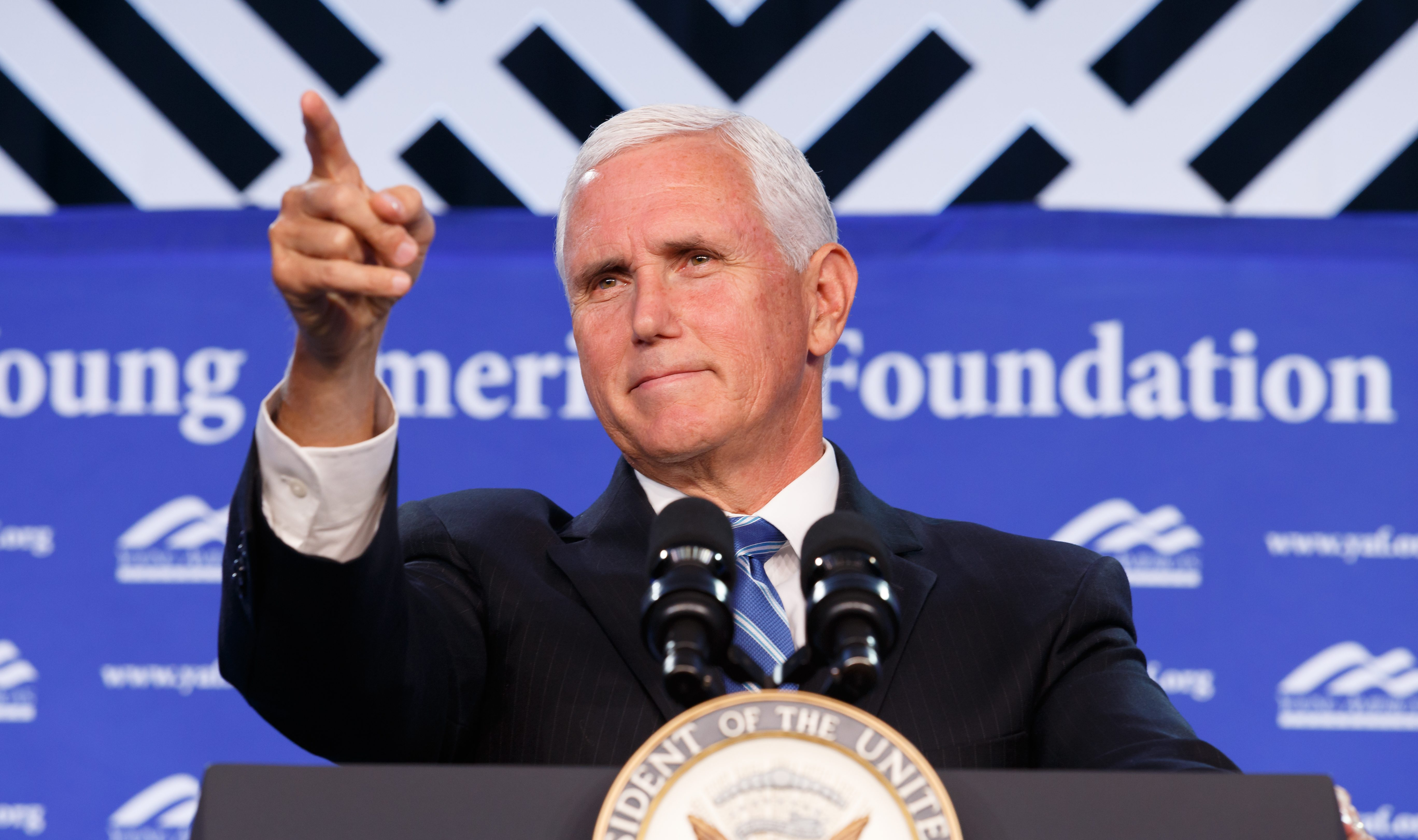 Mike Pence pointing