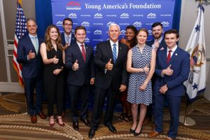 Mike Pence.YAF staff and select students 2