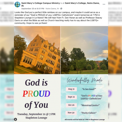 Saint Mary's College Hosts 'God is Proud of You: LGBTQ+ Catholicism'