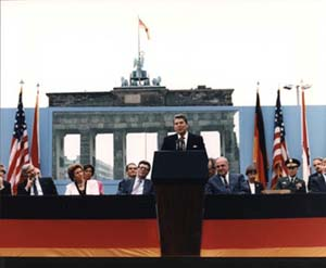 Reagan's speech at the Brandenburg Gate, Berlin, Germany