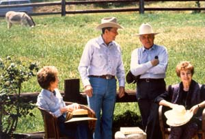 The Gorbachevs visit the Ranch